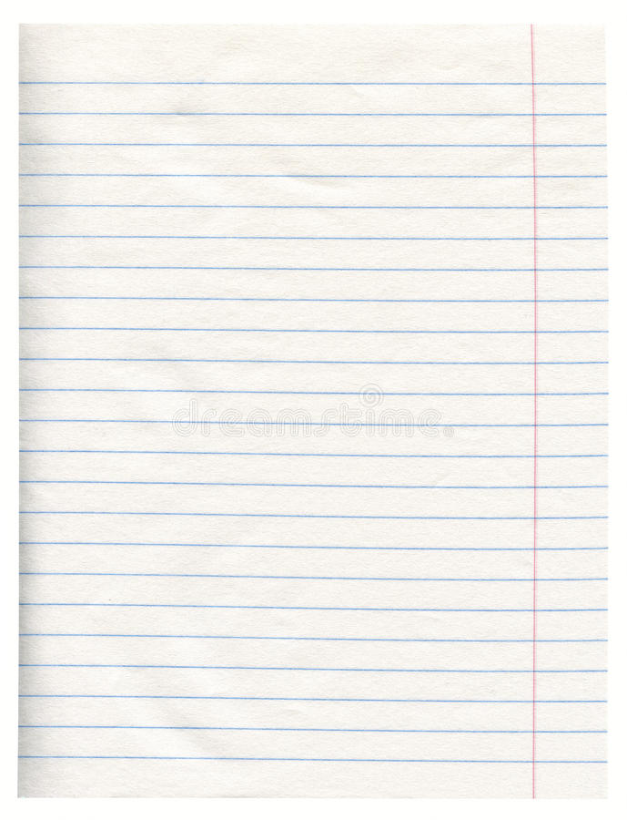 Notebook Paper stock photos
