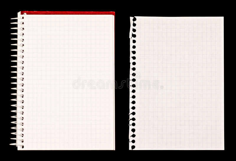 Notebook and Paper Note stock image