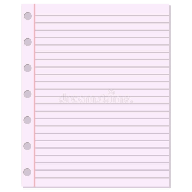 Download Notebook Paper Vector Background. Stock Vector   Illustration Of  Notebook, Illustration: 74629576  Notepad Paper Template