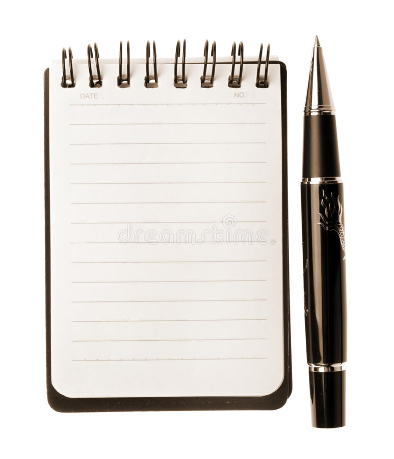 Download Notebook And Pen Royalty Free Stock Photos - Image: 14418058