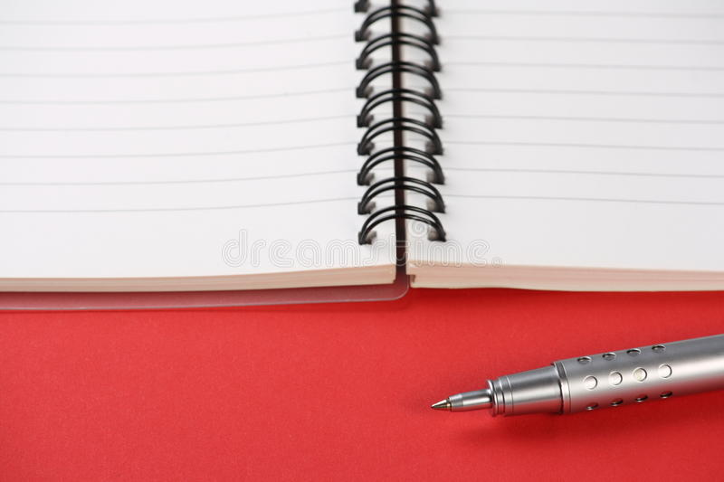 Download Notebook and Pen stock photo. Image of empty, notebook - 17588914