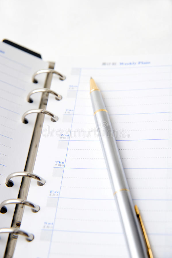 Download Notebook and pen stock image. Image of business, organizer - 22462595