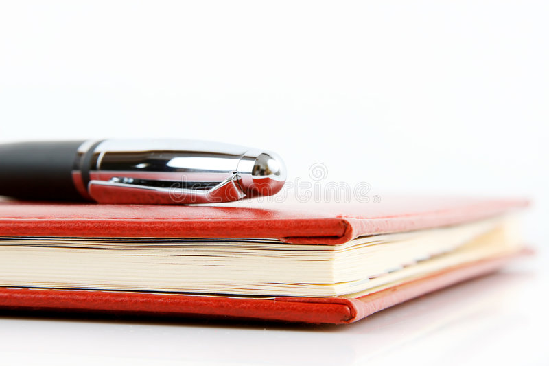 Download Notebook and pen stock photo. Image of note, business - 4327314