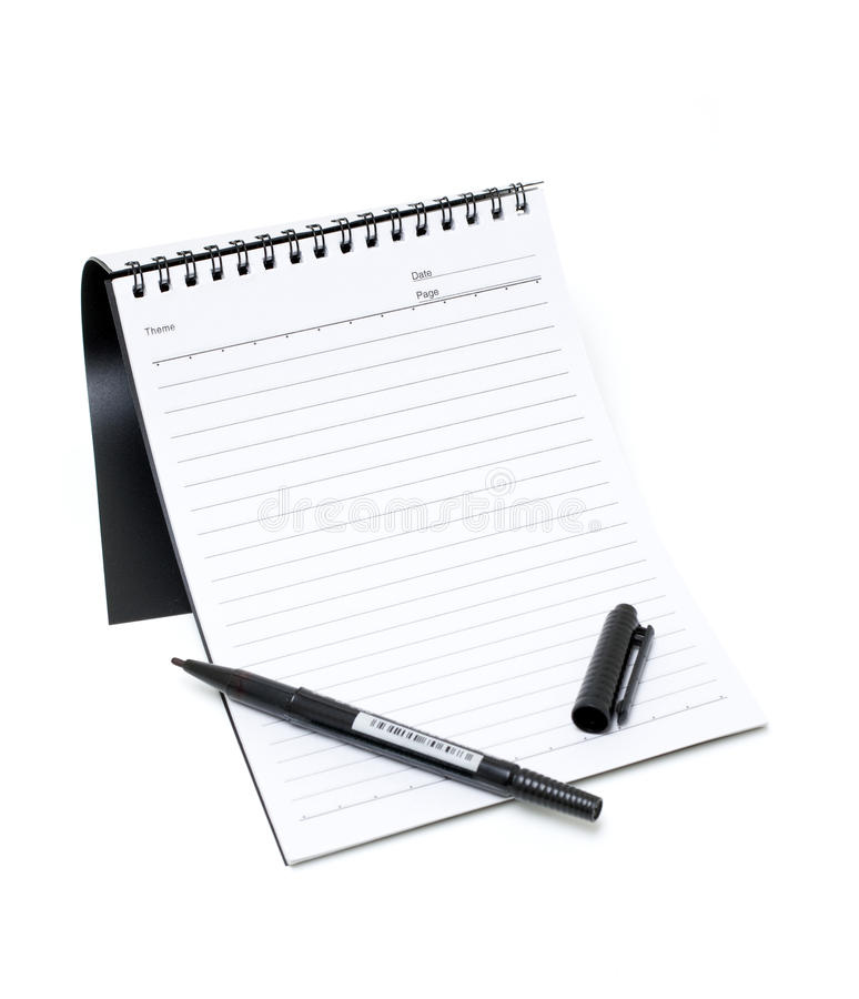 Download Notebook And Pen (Clipping Path) Stock Image - Image: 16157417