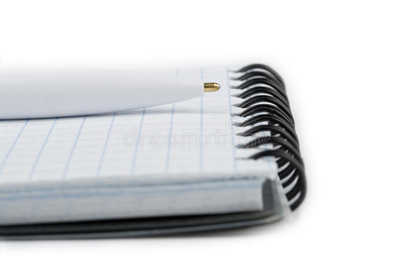 Notebook and pen closeup royalty free stock photography