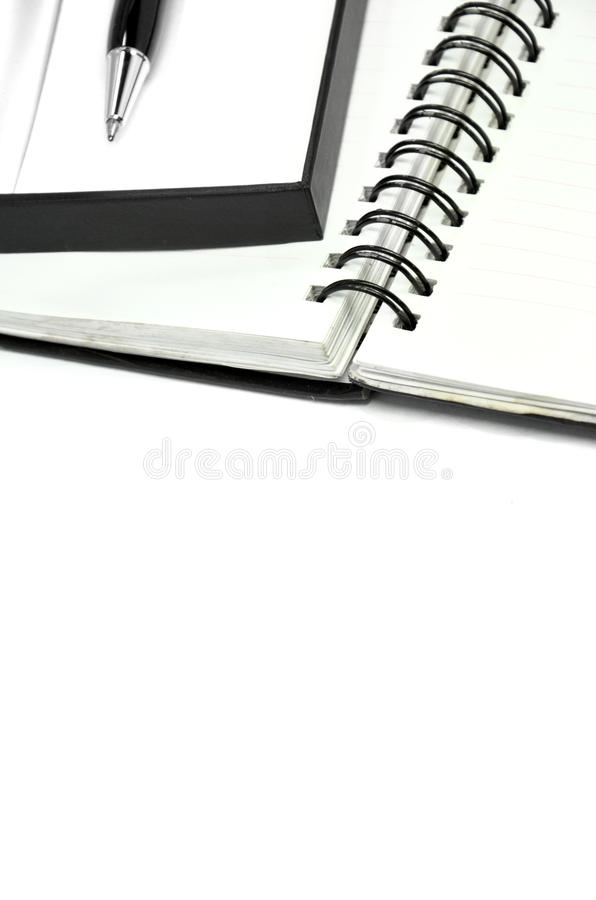 Notebook And Pen In Composition In Black And White Stock Image
