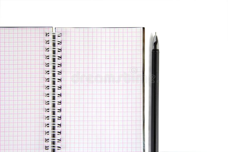 Notebook with pen- great design for any purposes. Creative business. Lifestyle, business finance, education technology concept. stock image