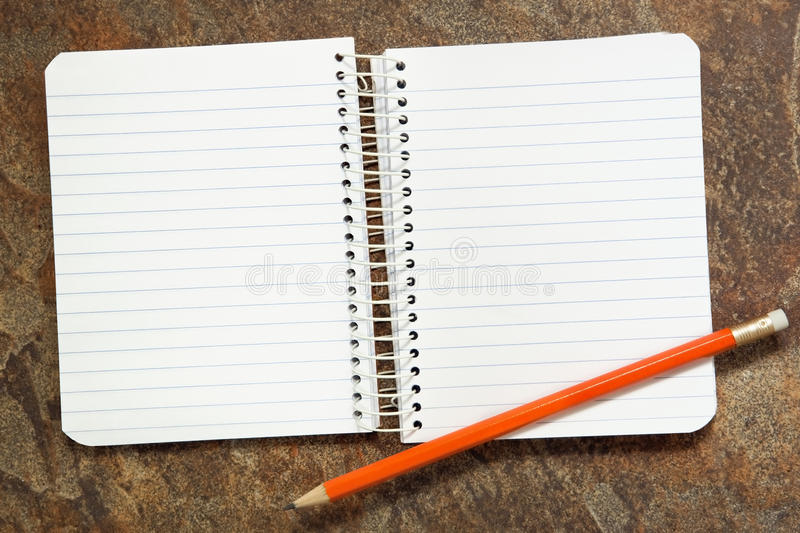 Download Notebook with Pencil stock photo. Image of sharp, lined - 14857198