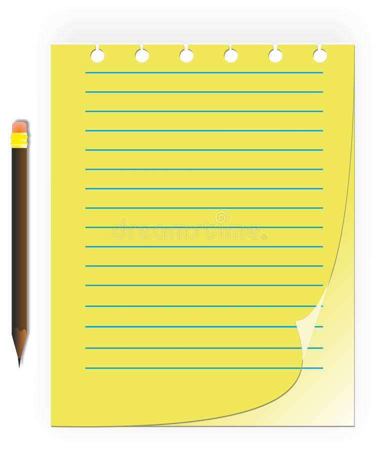 Download Notebook and pencil stock vector. Image of holiday, illustration - 22830054
