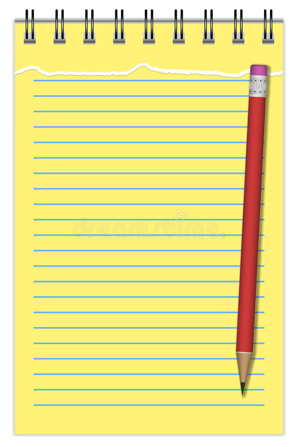 Download Notebook With Pencil stock vector. Image of graphic, office - 34621027