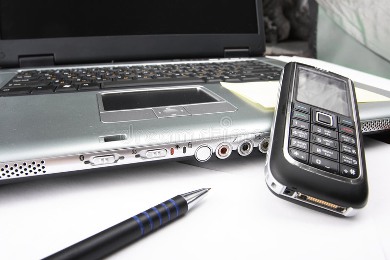 Download Notebook, Phone, Business Technology Stock Image - Image: 5731797