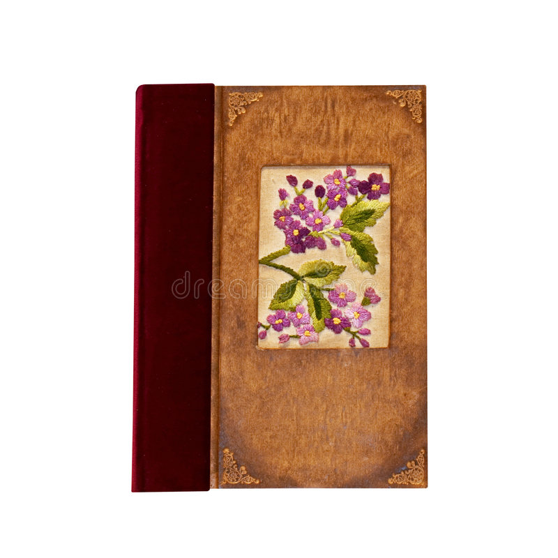 Notebook purple stock images
