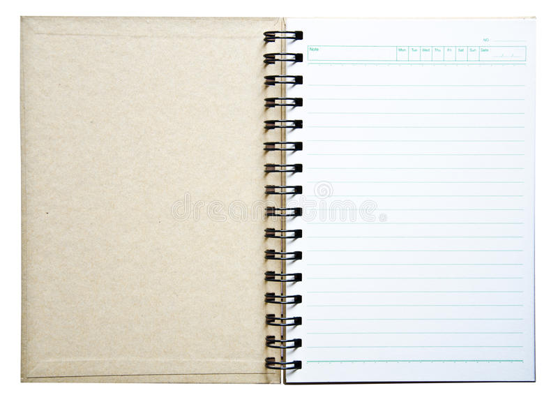Notebook for recording memories. Notebook for note what we are doing or have done royalty free stock photos