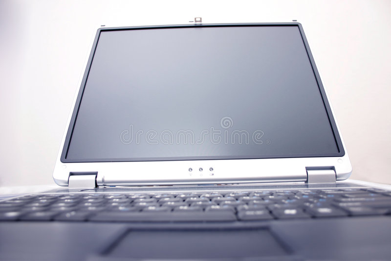 Notebook screen stock photo