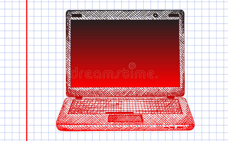 Notebook Sketch Royalty Free Stock Image