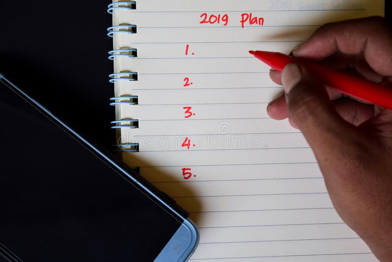 Focus 2019 plan royalty free stock photo