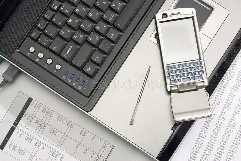 Download Notebook And Smartphone. Office Work. Stock Photo - Image: 9184296
