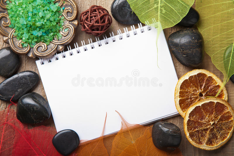 Download Notebook for spa stock photo. Image of comfort, bowl - 23243694