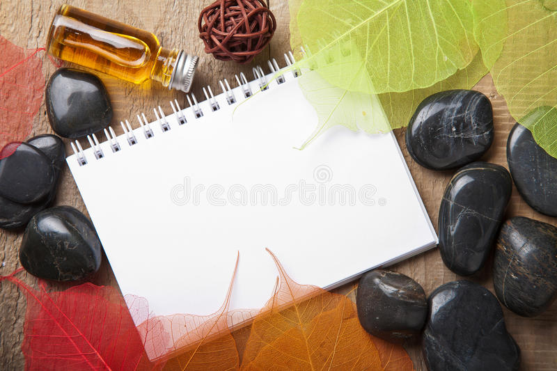 Download Notebook for spa stock photo. Image of natural, herbal - 23592276