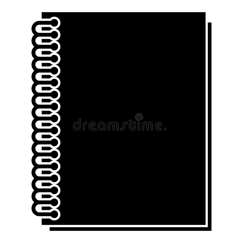 Notebook with spring icon black color illustration flat style simple image. Notebook with spring icon black color vector illustration flat style simple image vector illustration