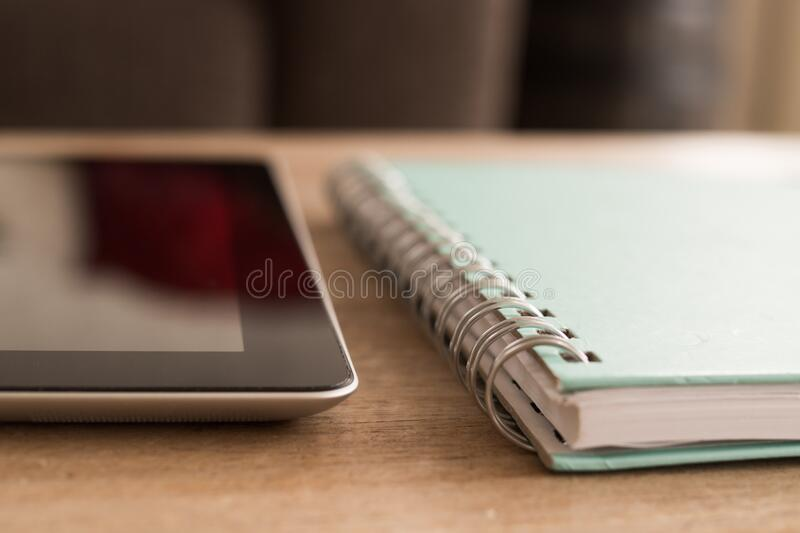 Notebook And Tablet On Desktop Free Public Domain Cc0 Image