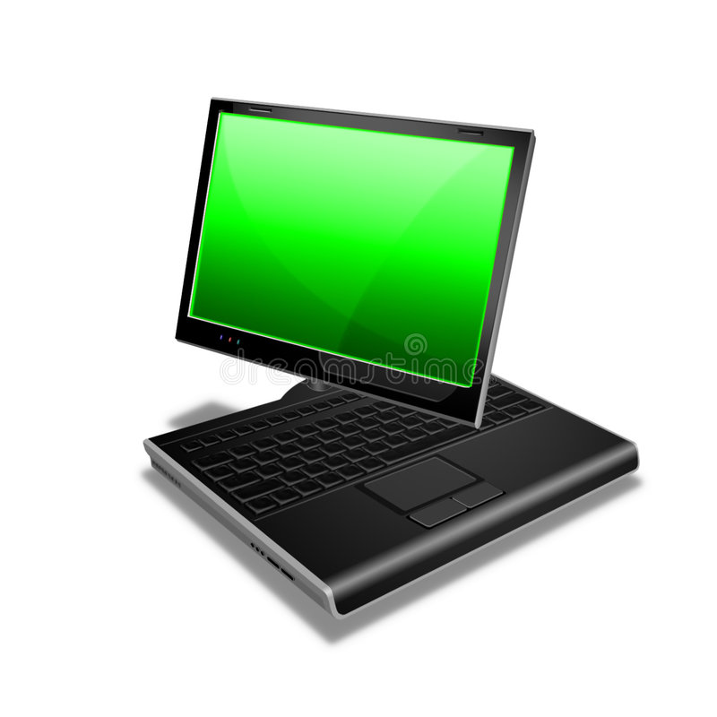 Free Notebook Tablet PC Green Royalty Free Stock Images - 1307699