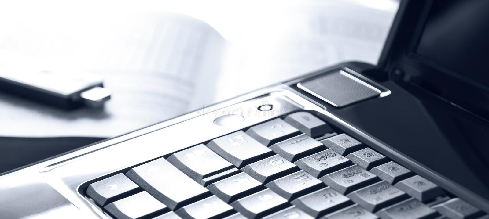 Download Notebook And Usb Flash Drive Stock Photo - Image: 24312662