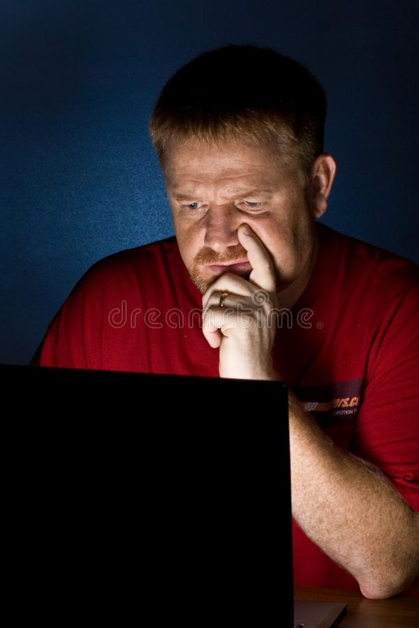Notebook User Looking Perplexed royalty free stock images