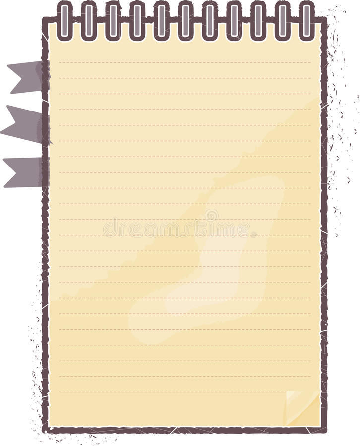 Download Notebook Vector With Floral Stock Vector - Image: 26989683