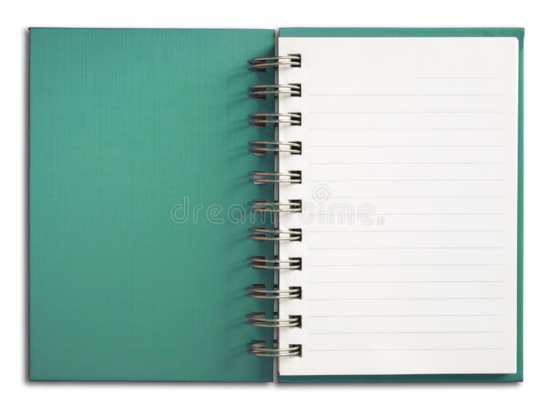 Download Notebook Vertical Single White Page Stock Image - Image: 14854025