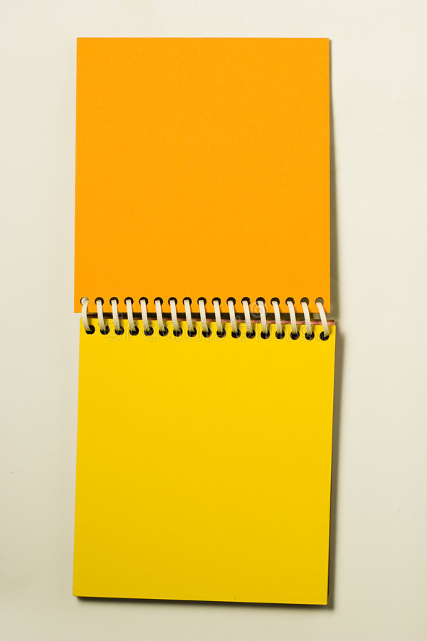 Notebook on White royalty free stock image