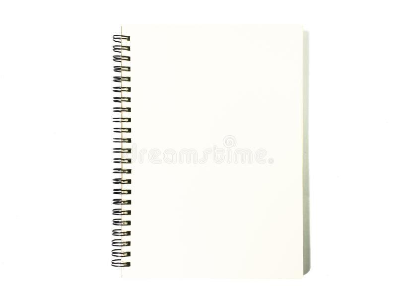 Notebook on white background. Black notepad. Notebook on white background. Black notepad top view stock image