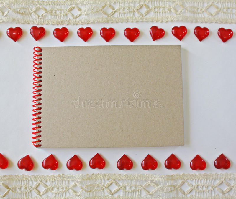 Notebook on a white background stock image