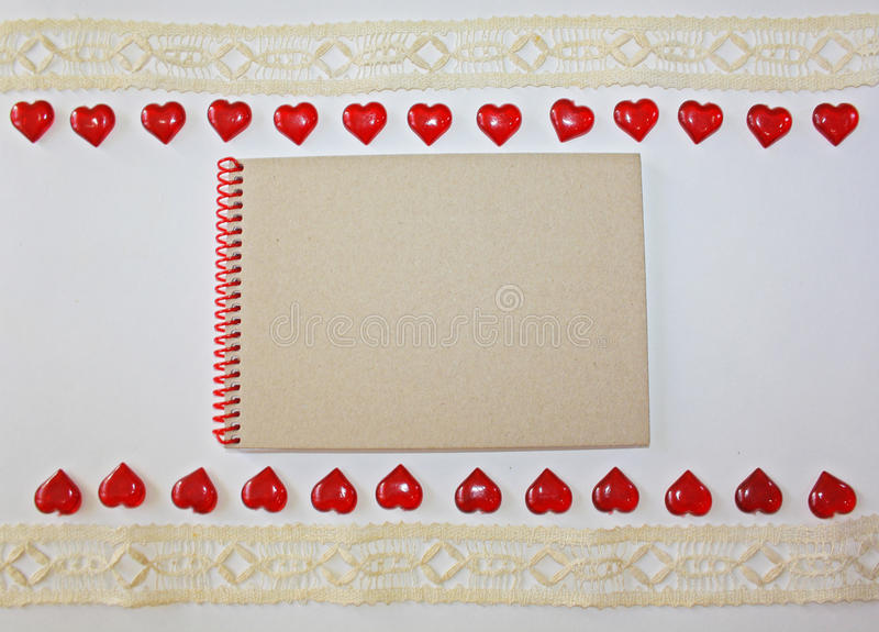 Notebook on a white background royalty free stock photography