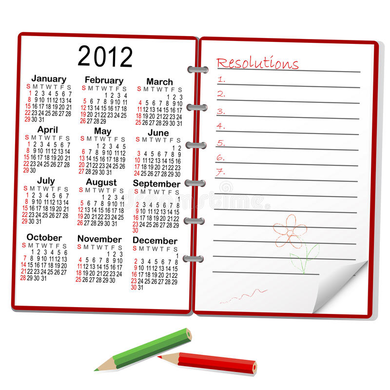 Free Notebook With Calendar. Royalty Free Stock Photo - 20513795
