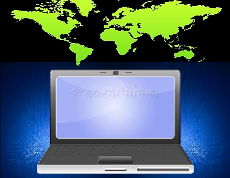 Notebook world vector illustration