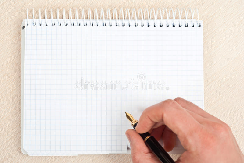 Notebook writing