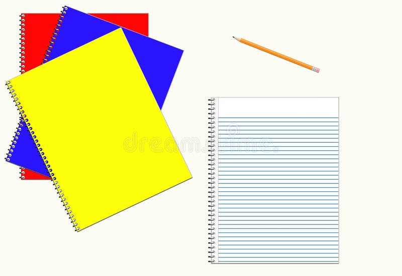 Download Notebooks stock illustration. Image of blue, write, spiral - 1067210