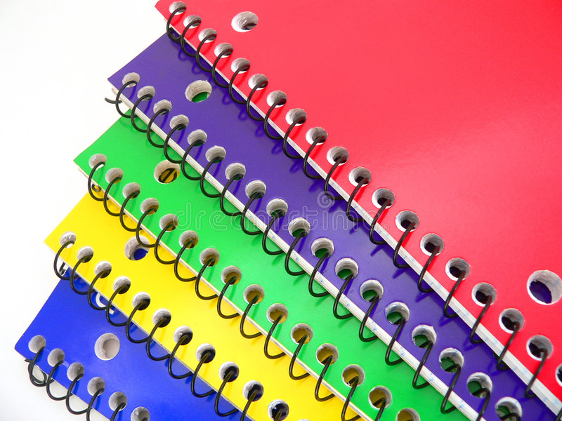 Notebooks stock image