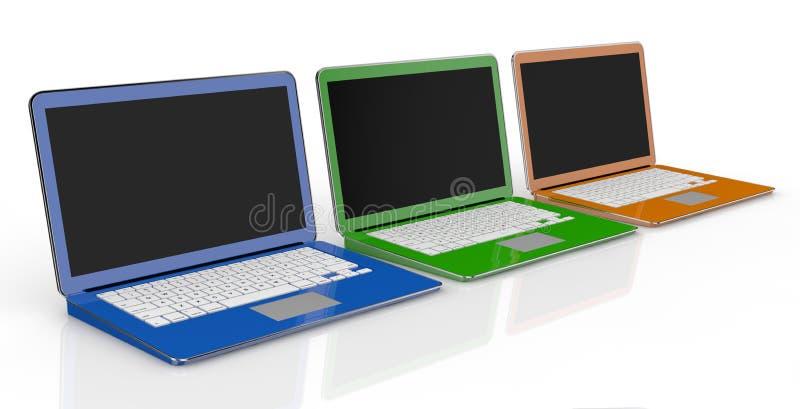 Download Notebooks stock illustration. Illustration of electronic - 25802777
