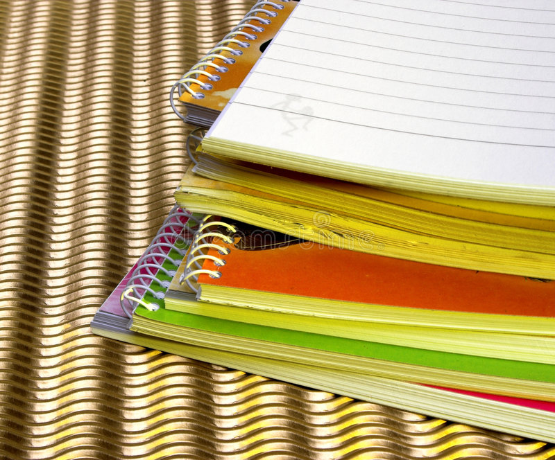 Notebooks stock photo
