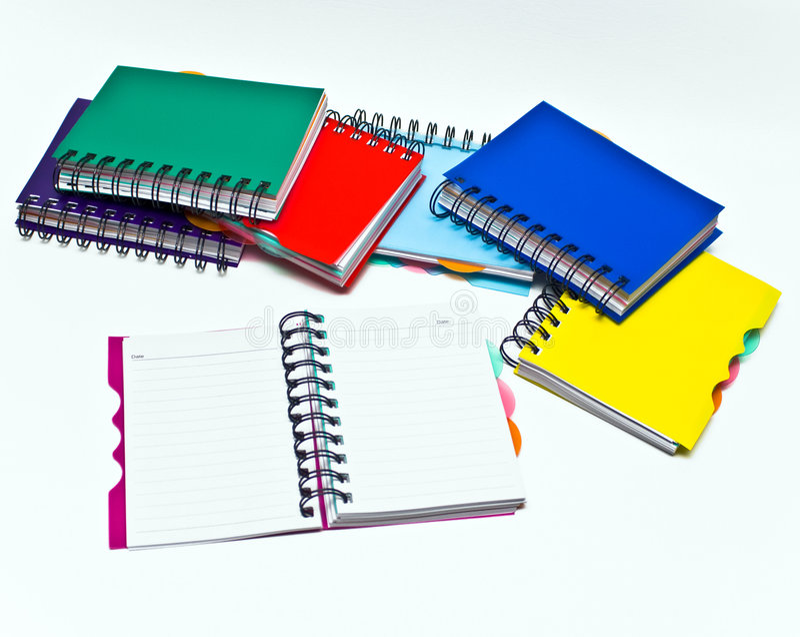 Notebooks stock photography
