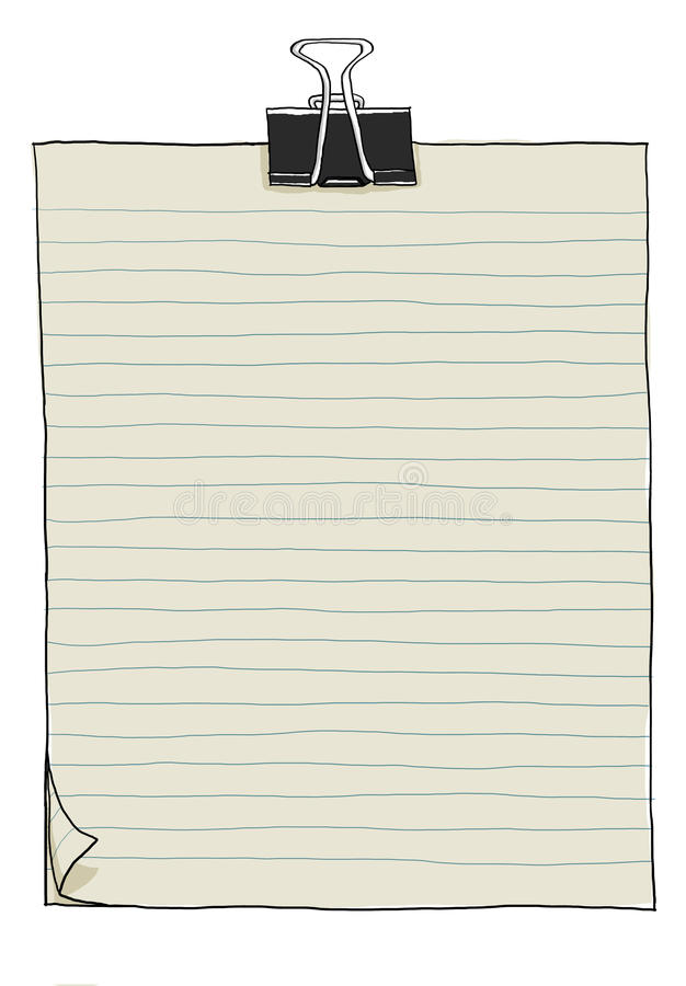 Notebooks art cute Notebooks,illustration of note royalty free illustration