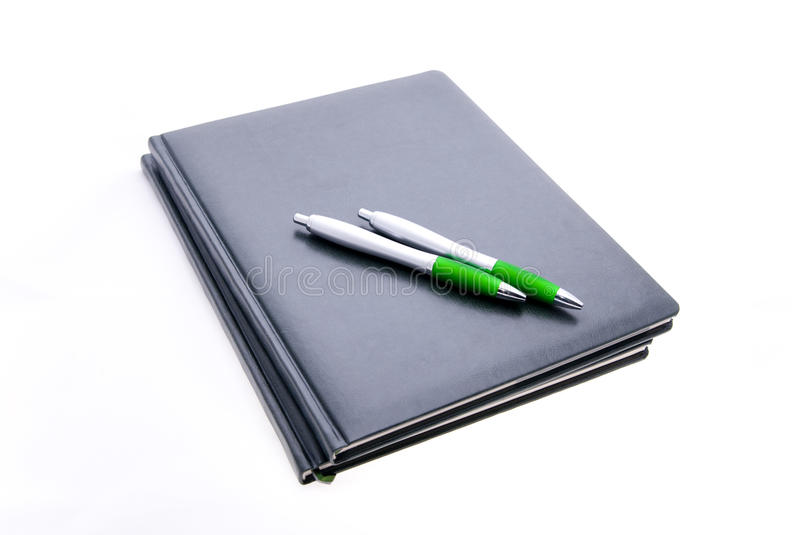 Download Notebooks and pens stock photo. Image of male, isolated - 11612574