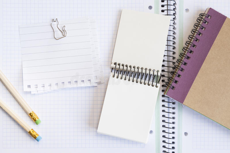 Download Notebooks With Pens And Paper Stock Photo - Image of clip, marketing: 35355996
