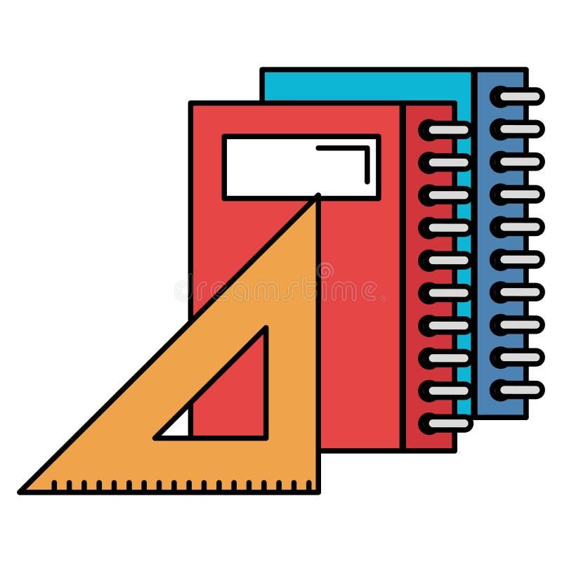 Notebooks school with rule. Vector illustration design stock illustration