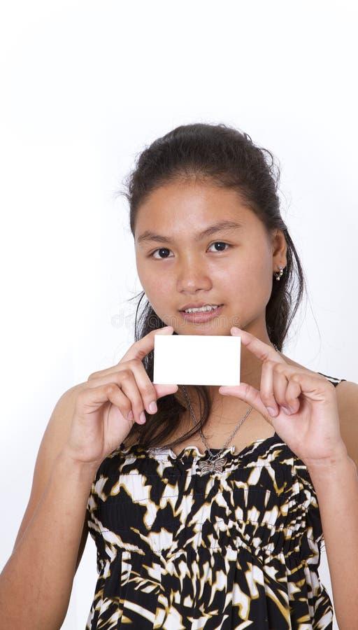 Notecard en blanco foto de archivo