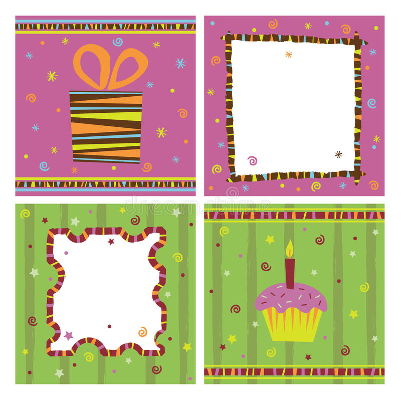 Notecards royalty free illustration