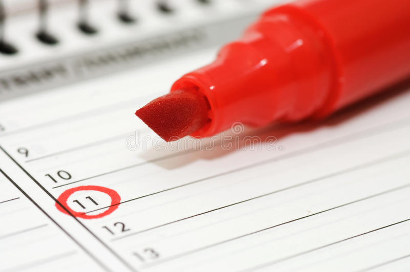 Download Noted Date In The Daily Log Stock Image - Image: 16664153