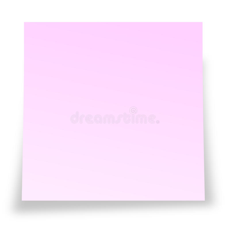 Notelet pegajoso cor-de-rosa ilustração royalty free